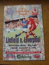 02/08/1996 Linfield v Liverpool [Friendly] (Slight Fold)