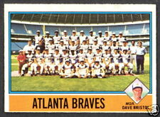 1976 TOPPS OPC O PEE CHEE #631 ATLANTA BRAVES TEAM NM UNMARKED WITH DUSTY BAKER