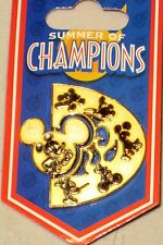 MICKEY Mouse Spinner Summer Champions OLYMPICS Disney Pin Sports Running Cycling