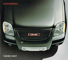 2007 GMC YUKON Truck OPTIONs / ACCESSORIES Brochure / Catalog: Denali, XL,
