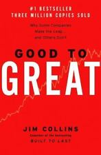 GOOD TO GREAT a Hardcover Business book by Jim Collins FREE USA SHIPPING