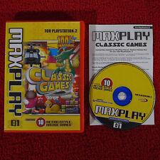 MAXPLAY Classic Games - PlayStation 2 PS2 ~PAL~ Retro/Arcade/Collection