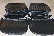 1971-72 Buick Skylark Front Bucket Seats Upholstery Black Vinyl - PUI