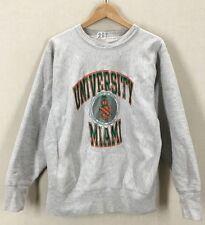 Vintage University Of Miami Hurricanes Champion Reverse Weave Sweatshirt Sz M/L