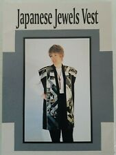 ART WEARABLES Japanese Jewels Vest Sewing Pattern by Lorraine Torrence Designs