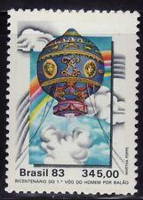 SELLOS AVIACION BRASIL 1977 1642 GLOBO AEROESTÁTICO 1v.