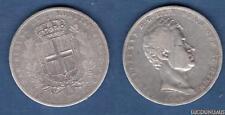 Italie 5 Lire 1838 Genes Charles Albert Carlo Alberto - Italia