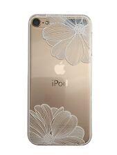 Carcasa Gel Estampada Fantasía para Apple Ipod Touch 6 (2 Flores Blancas)
