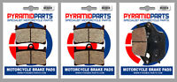 Front & Rear Brake Pads (3 Pairs) for Yamaha MT-07 700 2014