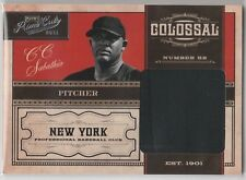 CC SABATHIA Yankees 2011 Prime Cuts Colossal Jersey 45/49