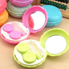 New Fashion Cute Macaron Contact Lens Case Portable Travel Lens Container