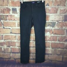 NYDJ Womens Not Your Daughters Slim Jeans Size 8 Black 33 Inseam