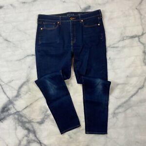 Spanx 5 Pocket Skinny Jeans Size 32 Womens Dark Wash High Rise Tummy Control