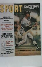 Vintage 1967 Sport Magazine WILLIE MAYS San Francisco Giants Cover RARE MLB