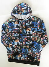 Star Wars hoodie jacket Mens Medium black characters new all over print