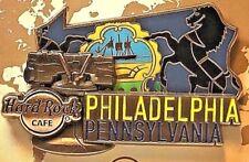 Hard Rock Cafe Philadelphia World Map Pin Series 3D 2017 HRC PA LE New # 95451