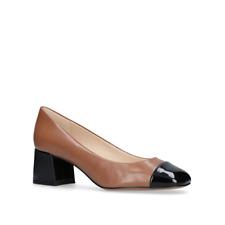 Nine West - Camel 'zipzap' Mid Heel Court Shoes UK 4.5 EU 37.5 Js50 57