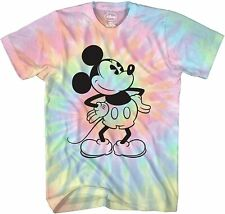 Mickey Mouse Attitude Tie Dye Classic Adult Tee Graphic T-Shirt for Men Tshirt