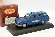 Elysée 1/43 - Peugeot 404 Break Gendarmerie
