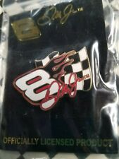 Dale Earnhardt Jr.  Flame and Flag style  # 8   Nascar      hat pin
