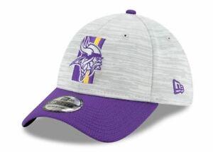 Minnesota Vikings New Era 2021 NFL Training Camp 39THIRTY Flex Hat - Gray/Purple