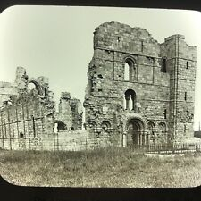 Lindisfarne Priory Ancient Britain Antique Magic Lantern Glass Slide Photo