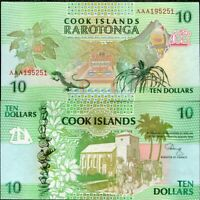 Cook Islands 10 Dollars 1992 P 8 UNC