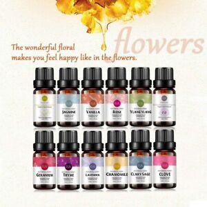 RA 12 Flower Essential Oil Aromatherapy Oils Natural Pure Set Fragrances 10ml