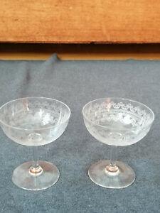 2 antike Sekt Champagner Schalen guillochiert Kutzscher Original Art Deco