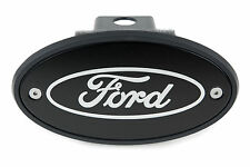 FORD Receiver Hitch Cover - Black with Silver Platinum Engraved Logo - USA