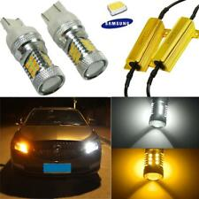 7443 Dual Color Switchback 31-SMD Samsung LED Turn Signal Bulbs + Load Resistors