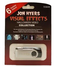 Animated Halloween Window FX Decoration Collection USB w/ 6 Videos by Jon Hyers