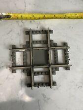 Lego Electric Train 4519 Cross Track Crossing 9v 9 Volt Metal Rails Dark Gray