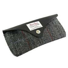 Harris Tweed Glasses Case with Leather Trim (grey)  NEW  25155