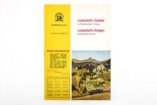Lot 180801 Noch Katalogauszug Landschaftszubehör + Landschaftsanlagen, 1962-1963