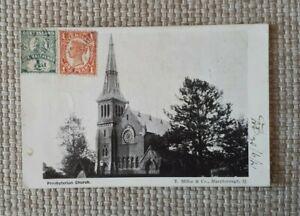 POSTCARD - PRESBYTERIAN CHURCH MARYBOROUGH QUEENSLAND 1906