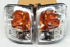 TOYOTA HILUX LN167 2003 D4D CHROME FRONT CORNER INDICATOR LIGHTS LAMPS PAIR 055A