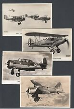 More details for fourteen postcards photographic rppc aviation plane valentine's toning on backs