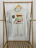 VTG I'll Do It Tomorrow I'm Going Fishing Today Single Stitch T-Shirt Size L USA