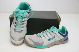 New Inov-8 F-Lite 235 V2 Women's Running Shoes 7 Gym Crossfit Grey Teal Purple