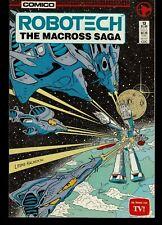 Robotech -Macross Saga #13 1986 Comico Tv -Leeke/ Kalnick-c .Vf-