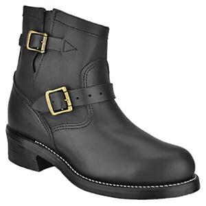 New!!! Size 6.5 EE - Chippewa 27872 - Steel Toe Short Engineer Boots Black - USA