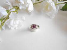 Juwelo Silberring Orissa - Stern - Rubin Topas Ring  925 Sterling Silber    NEU