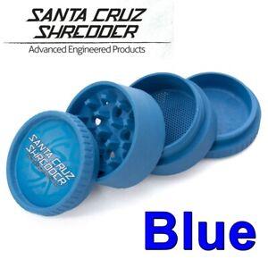 Santa Cruz Shredder 4 Piece Medium Hemp Grinder - BLUE - 100% biodegradable
