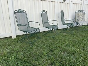 wrought iron patio furniture 4 Rocking Chairs -in Good Condition-