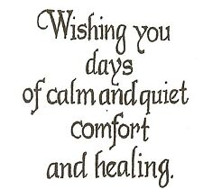 Calm And Quiet Comfort Small Wood Mounted Rubber Stamp NORTHWOODS C10228 New