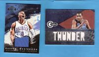 KEVIN DURANT & RUSSELL WESTBROOK #d GAME USED JERSEY CARDS OKLAHOMA CITY THUNDER