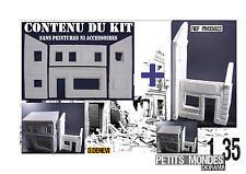 DIORAMA MAQUETTE BOUTIQUE 1 35 + ANNEXE pour kit TAMIYA DRAGON ITALERI  MINIART