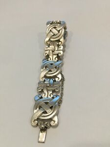 VINTAGE STERLING SILVER SIGNED TAXCO AND MARKED RC AND NUMBERED HEAVY 83 GRAMS B