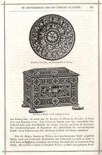 Email platillo & cofres de e. Philippe Paris corte de madera-vignette de 1873